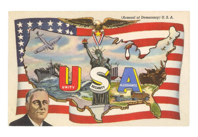 pr-00013-cfranklin-roosevelt-with-flag-and-map-posters