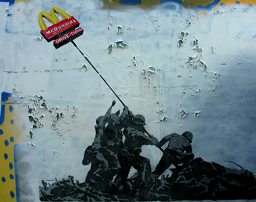 mcdonalds as iwo jima