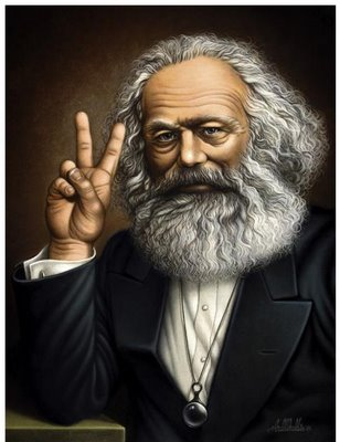 Karl Marx Peace Sign