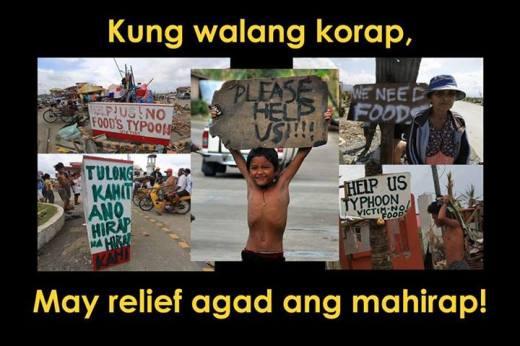 Kung walang korap may relief agad ang mahirap