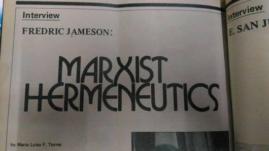 Marxist Hermeneutics